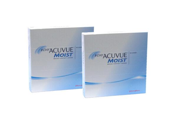 1-Day Acuvue Moist 2 x 90 Tageslinsen Sparpaket 3 Monate