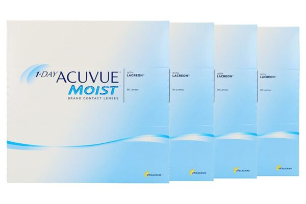 1-Day Acuvue Moist 4 x 90 Tageslinsen Sparpaket 6 Monate