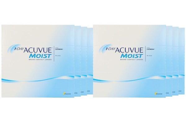 1-Day Acuvue Moist 8 x 90 Tageslinsen Sparpaket 12 Monate