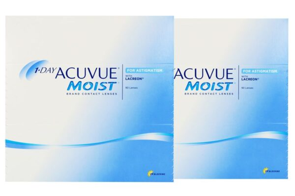 1-Day Acuvue Moist for Astigmatism 2 x 90 Tageslinsen Sparpaket 3 Monate