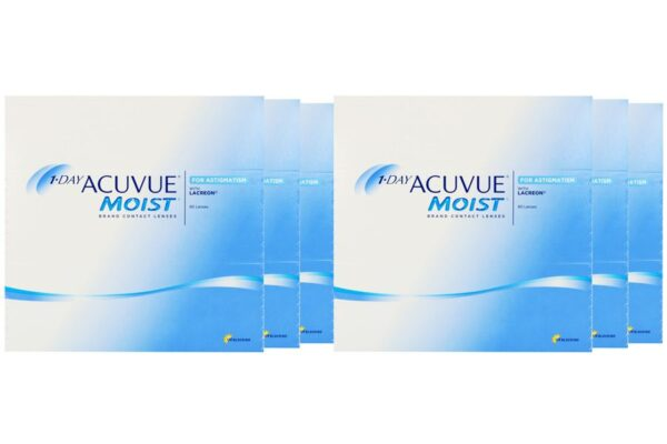 1-Day Acuvue Moist for Astigmatism 6 x 90 Tageslinsen Sparpaket 9 Monate