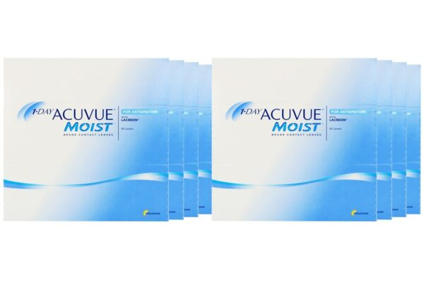 1-Day Acuvue Moist for Astigmatism 8 x 90 Tageslinsen Sparpaket 12 Monate