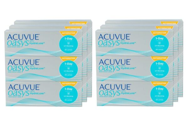 Acuvue Oasys 1-Day for Astigmatism 6 x 90 Tageslinsen Sparpaket 9 Monate
