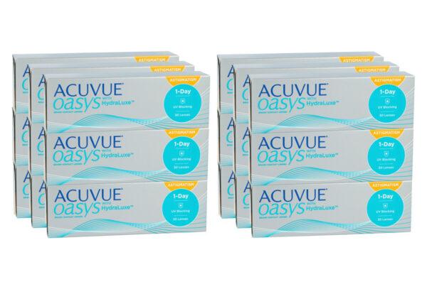 Acuvue Oasys 1-Day for Astigmatism 6 x 90 Tageslinsen Sparpaket für 9 Monate