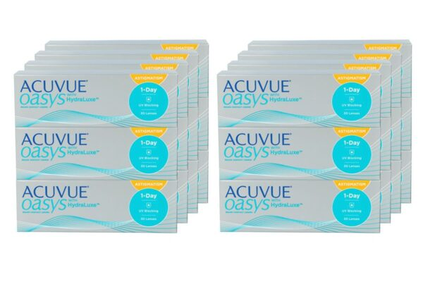 Acuvue Oasys 1-Day for Astigmatism 8 x 90 Tageslinsen Sparpaket 12 Monate