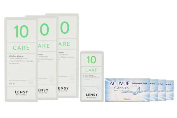 Acuvue Oasys 4 x 6 Zwei-Wochenlinsen + Lensy Care 10 Halbjahres-Sparpaket