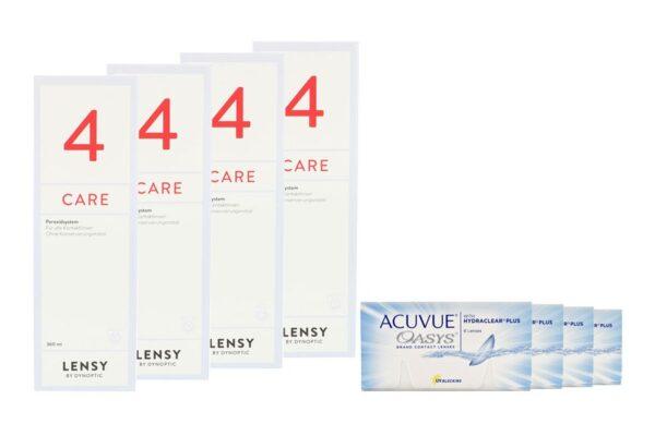 Acuvue Oasys 4 x 6 Zwei-Wochenlinsen + Lensy Care 4 Halbjahres-Sparpaket