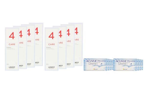 Acuvue Oasys 8 x 6 Zwei-Wochenlinsen + Lensy Care 4 Jahres-Sparpaket