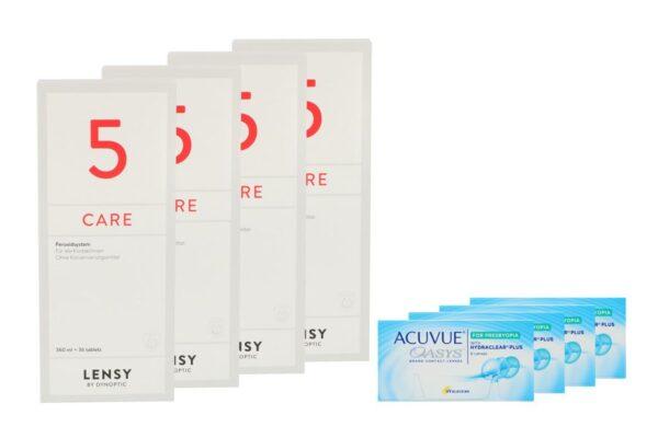Acuvue Oasys for Presbyopia 4 x 6 Zwei-Wochenlinsen + Lensy Care 5 Halbjahres-Sparpaket