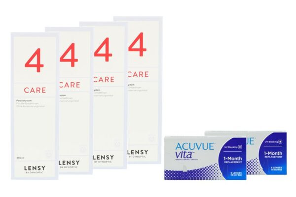 Acuvue Vita 2 x 6 Monatslinsen + Lensy Care 4 Halbjahres-Sparpaket