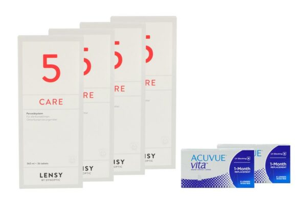 Acuvue Vita 2 x 6 Monatslinsen + Lensy Care 5 Halbjahres-Sparpaket