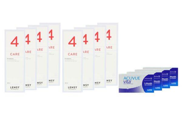 Acuvue Vita 4 x 6 Monatslinsen + Lensy Care 4 Jahres-Sparpaket