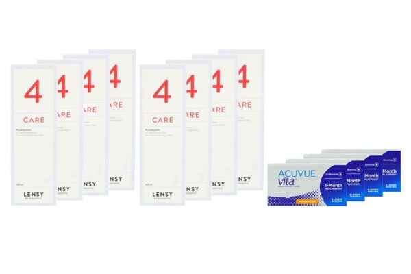 Acuvue Vita for Astigmatism 4 x 6 Monatslinsen + Lensy Care 4 Jahres-Sparpaket