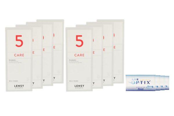 Air Optix Aqua 4 x 6 Monatslinsen + Lensy Care 5 Jahres-Sparpaket