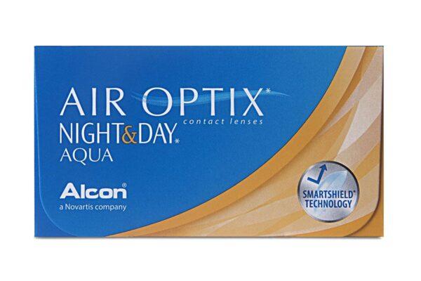 Air Optix Night & Day Aqua 4 x 6 Monatslinsen + AoSept Plus HydraGlyde Jahres-Sparpaket