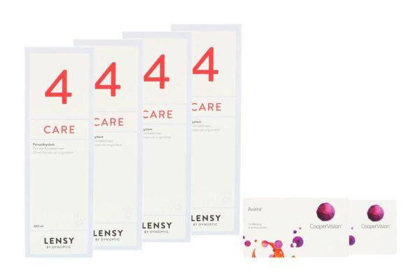 Avaira Vitality 2 x 6 Monatslinsen + Lensy Care 4 Halbjahres-Sparpaket