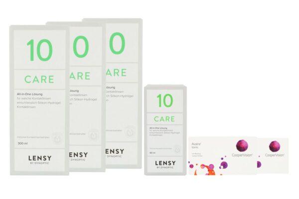 Avaira toric Vitality 2 x 6 Monatslinsen + Lensy Care 10 Halbjahrespaket