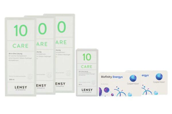 Biofinity Energys 2 x 6 Monatslinsen + Lensy Care 10 Halbjahres-Sparpaket
