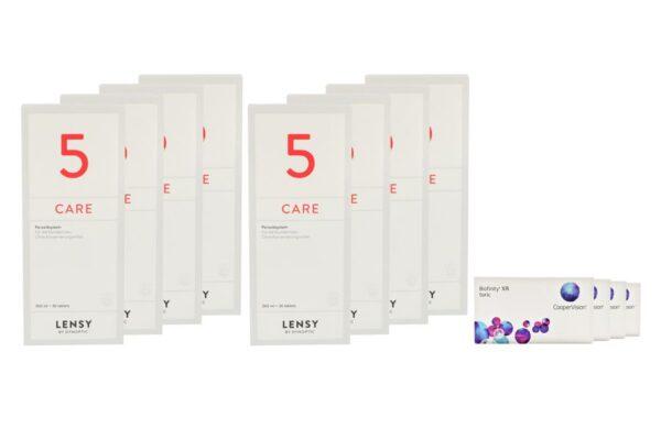 Biofinity toric XR 4 x 6 Monatslinsen + Lensy Care 5 Jahres-Sparpaket