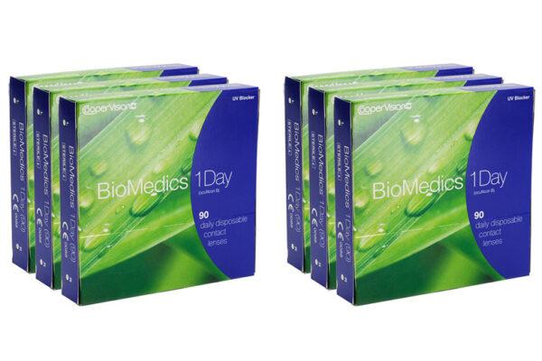 Biomedics 1 day Extra 6 x 90 Tagelinsen Sparpaket 9 Monate