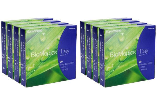 Biomedics 1 day Extra 8 x 90 Tageslinsen Sparpaket 12 Monate