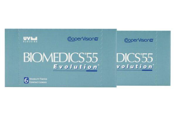 Biomedics 55 2 x 6 Monatslinsen + Lensy Care 14 Halbjahres-Sparpaket