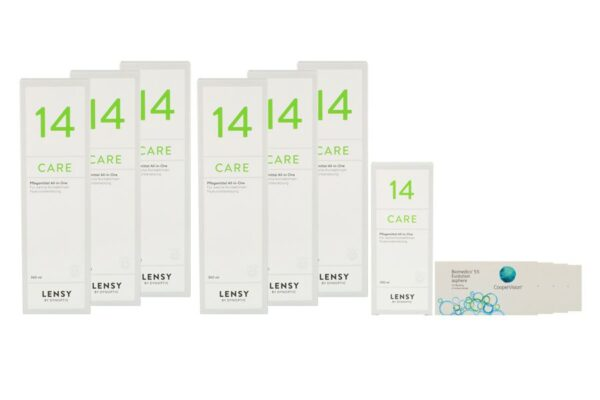 Biomedics 55 4 x 6 Monatslinsen + Lensy Care 14 Jahres-Sparpaket
