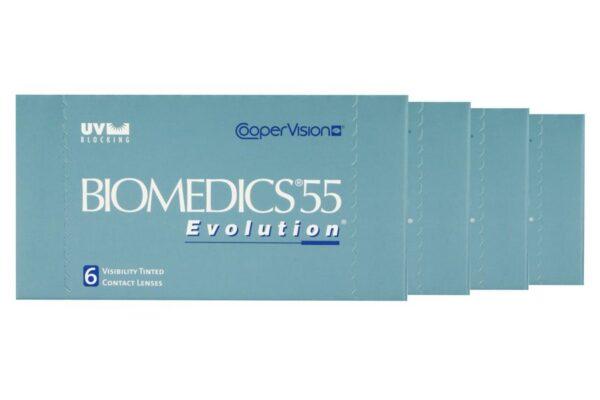 Biomedics 55 4 x 6 Monatslinsen + Lensy Care 4 Jahres-Sparpaket