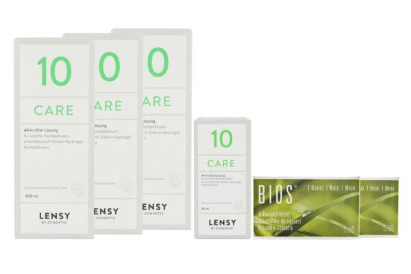 Bios 1-Monat 2 x 6 Monatslinsen + Lensy Care 10 Halbjahres-Sparpaket