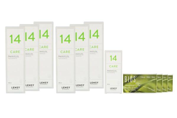Bios 1-Monat 4 x 6 Monatslinsen + Lensy Care 14 Jahres-Sparpaket