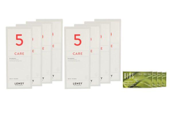 Bios 1-Monat 4 x 6 Monatslinsen + Lensy Care 5 Jahres-Sparpaket