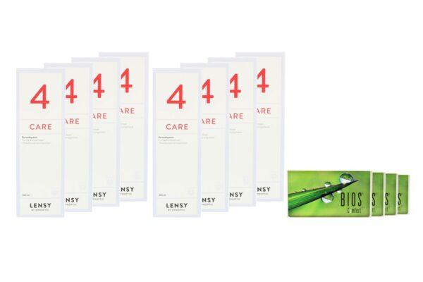 Bios Comfort 4 x 6 Monatslinsen + Lensy Care 4 Jahres-Sparpaket