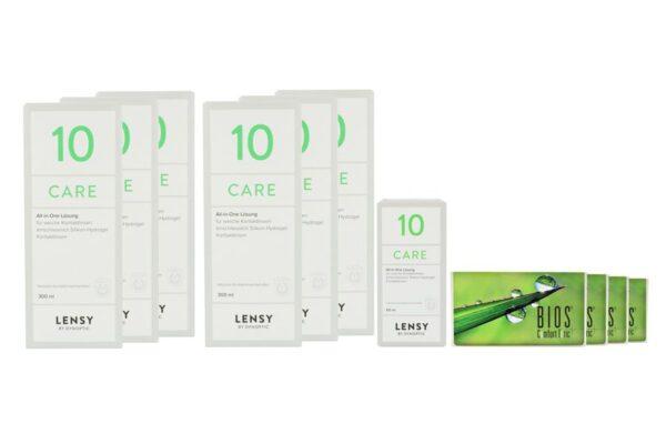 Bios Comfort Toric 4 x 6 Monatslinsen + Lensy Care 10 Jahres-Sparpaket