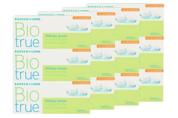 Biotrue One day for Astigmatism 4 x 90 Tageslinsen Sparpaket 6 Monate