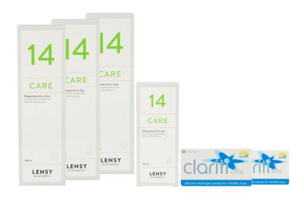 Clariti Elite 2 x 6 Monatslinsen + Lensy Care 14 Halbjahres-Sparpaket