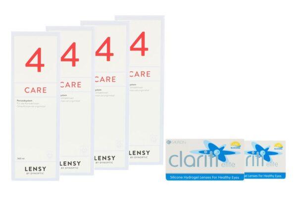 Clariti Elite 2 x 6 Monatslinsen + Lensy Care 4 Halbjahres-Sparpaket