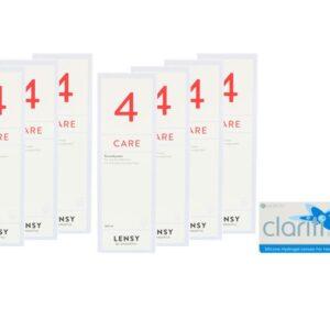 Clariti Elite 4 x 6 Monatslinsen + Lensy Care 4 Jahres-Sparpaket