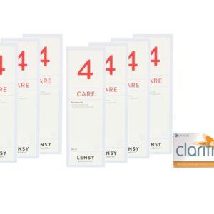 Clariti XR toric 4 x 6 Monatslinsen + Lensy Care 4 Jahres-Sparpaket