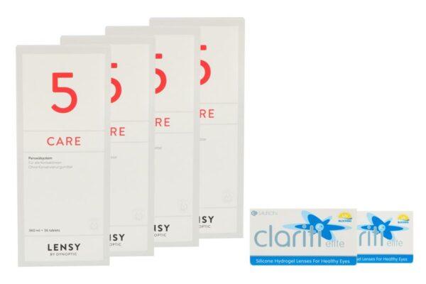Clariti elite 2 x 6 Monatslinsen + Lensy Care 5 Halbjahres-Sparpaket