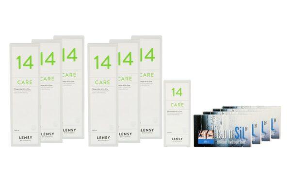 ConSiL Plus Toric 4 x 6 Monatslinsen + Lensy Care 14 Jahres-Sparpaket