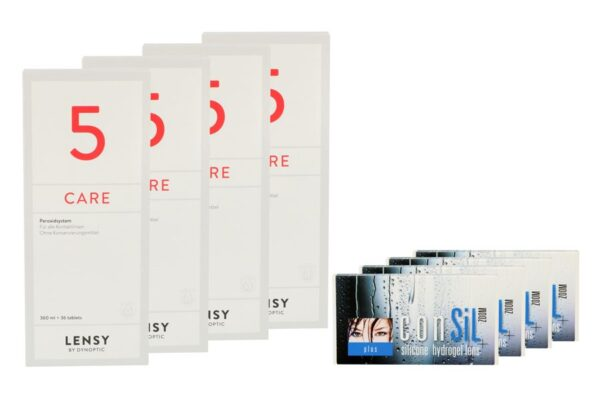 ConSiL Plus Zoom 4 x 3 Monatslinsen + Lensy Care 5 Halbjahres-Sparpaket