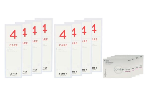 Contaview excellence UV 4 x 6 Monatslinsen + Lensy Care 4 Jahres-Sparpaket