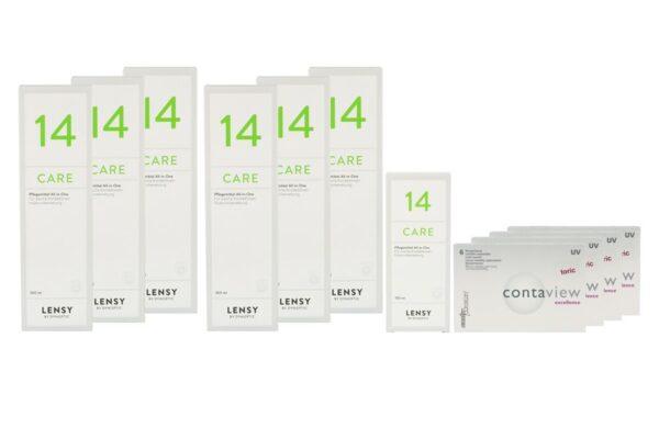 Contaview excellence toric UV 4 x 6 Monatslinsen + Lensy Care 14 Jahres-Sparpaket