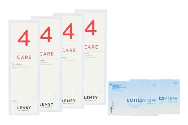Contaview premium UV 2 x 6 Monatslinsen + Lensy Care 4 Halbjahres-Sparpaket