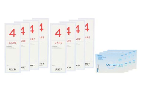 Contaview premium toric UV 4 x 6 Monatslinsen + Lensy Care 4 Jahres-Sparpaket
