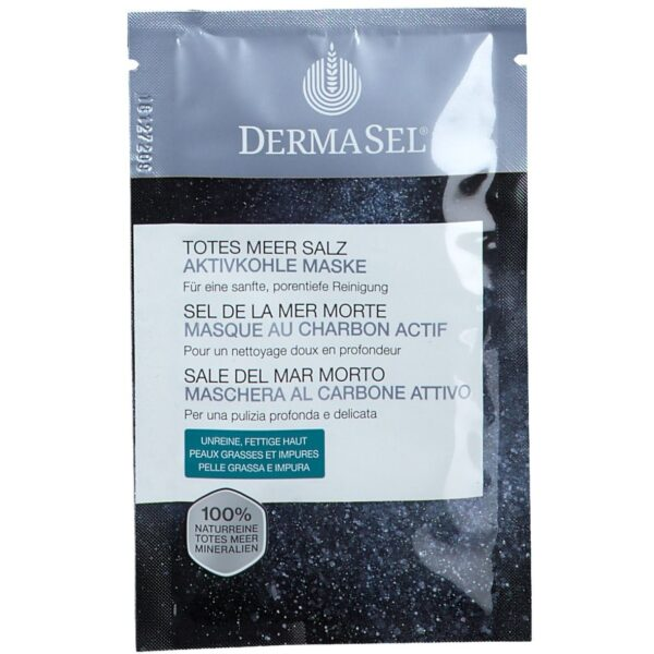 DERMASEL® Totes Meer Salz Aktivkohle Maske