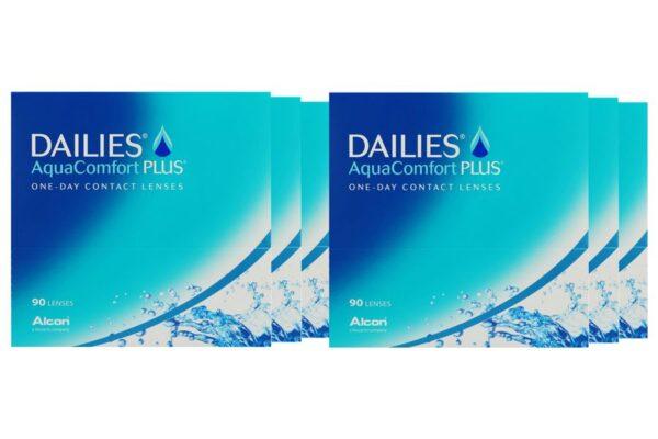 Dailies AquaComfort Plus 6 x 90 Tageslinsen Sparpaket 9 Monate