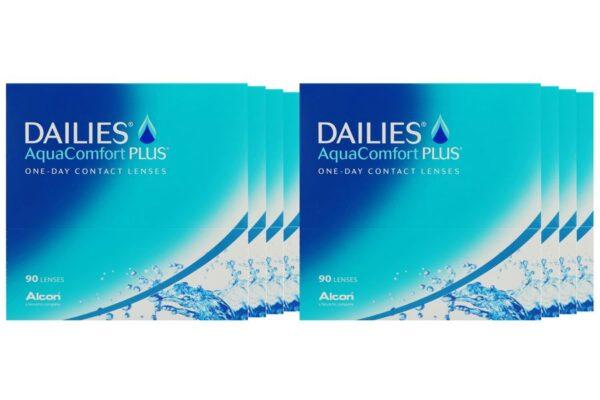 Dailies AquaComfort Plus 8 x 90 Tageslinsen Sparpaket 12 Monate