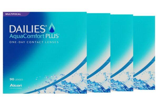 Dailies AquaComfort Plus Multifocal 4 x 90 Tageslinsen Sparpaket 6 Monate