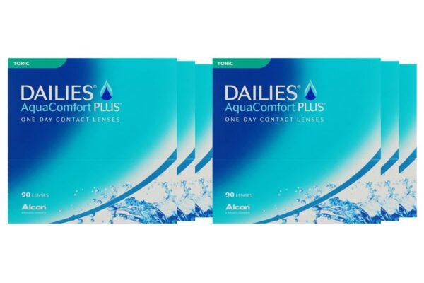 Dailies AquaComfort Plus Toric 6 x 90 Tageslinsen Sparpaket 9 Monate